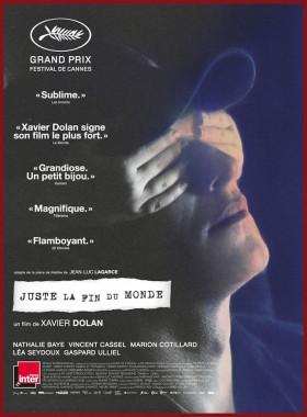 Juste la fin du monde de Xavier Dolan - affiche