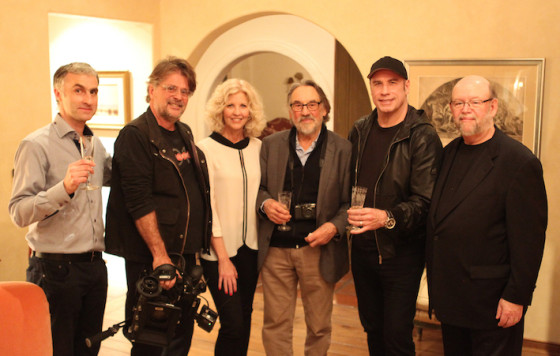 Pierre Filmon, Nancy Allen, Vilmos Zsigmond, John Travolta - Janvier 2015 - Photo Williams