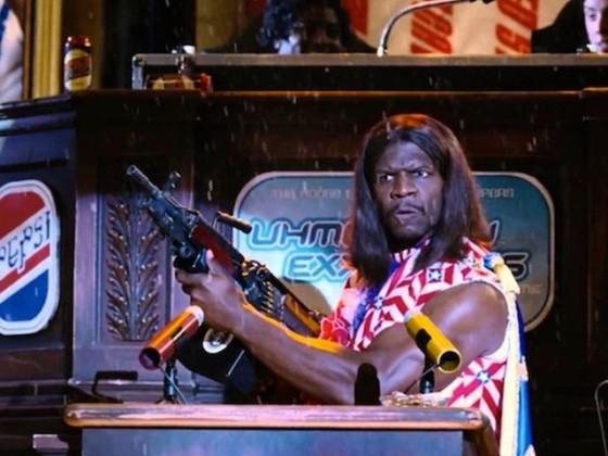 Terry Crews en President Camacho dans Idiocracy réalisé par Mike Judge