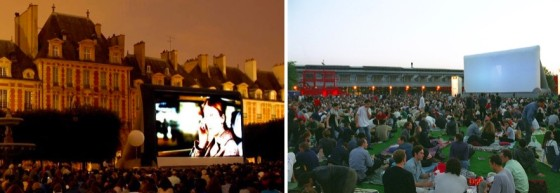 Cinema au Clair de Lune et Cinema en pleine air - La Villette