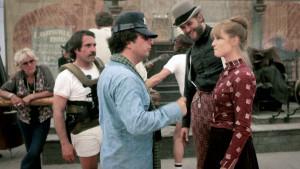 Michael Cimino et Isabelle Huppert - Tournage Les Portes du Paradis