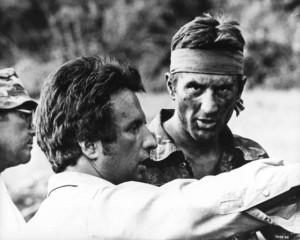 Michael Cimino et Robert de Niro - Tournage Voyage au bout de l'Enfer