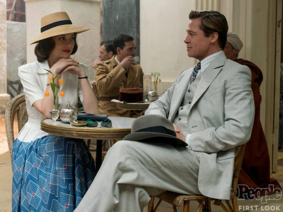 Brad Pitt et Marion Cotillard dans Five Seconds of Silence de Robert Zemeckis
