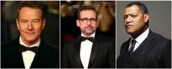 Bryan Cranston, Steve Carell et Laurence Fishburne