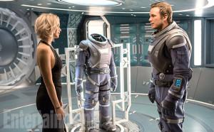 Jennifer Lawrence et Chris Pratt dans Passengers