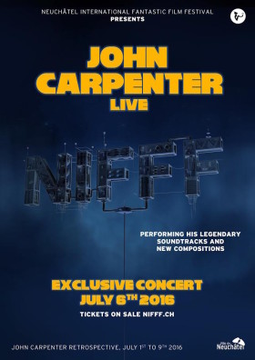 John Carpenter Live - affiche NIFFF