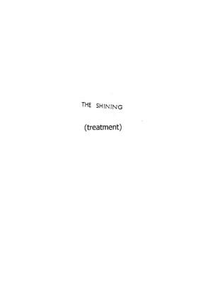 Shining - scénario d'origine