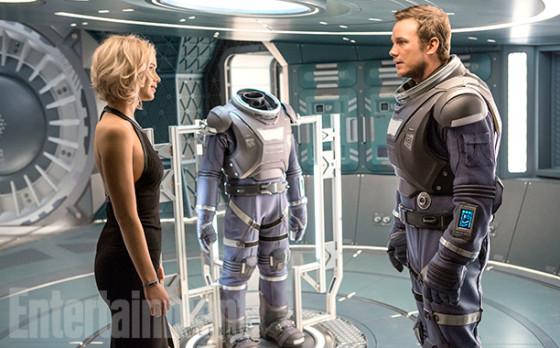 Chris Pratt et Jennifer Lawrence - Passengers