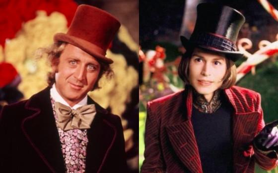 Gene Wilder et Johnny Depp - Willy Wonka - Charlie et la Chocolaterie