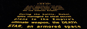 Star Wars - generique déroulant