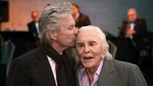 Kirk et Michael Douglas