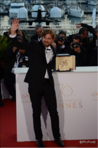Ruben Ostlund - Palme d'or pour the Square - Photo Philippe Prost pour CineChronicle - Cannes 2017