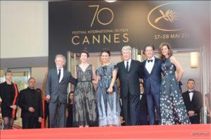 Montée David Lynch - Twin Peaks - Cannes 2017