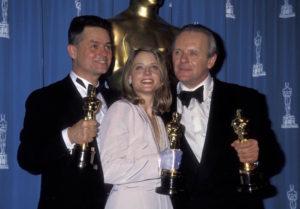 Jonathan Demme, Jodie Foster, Anthony Hopkins - Oscars Le Silence des Agneaux