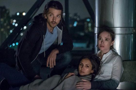 Ray (Diego Luna), Courtney (Ellen Page) et Marlo (Nina Dobrev) - L'Experience Interdite - Flatliners