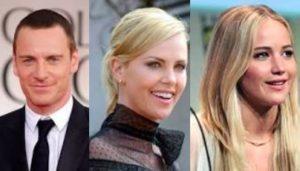 Michael Fassbender, Charlize Theron, Jennifer Lawrence