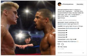 Sylverster Stallone Instagram Creed 2