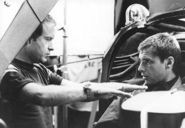 Ridley Scott et Harrison Ford - tournage Blade Runner