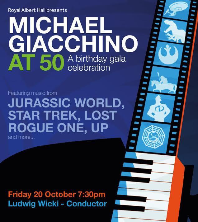 Affiche Michael Giacchino - Royal Albert Hall