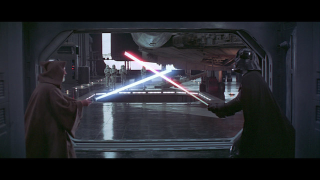 Dark Vader et Obi-Wan Kenobi - Star Wars Un Nouvel Espoir