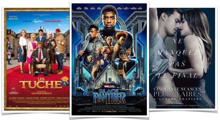 Box office Black Panther Les Tuche 3 Cinquante nuances plus claires