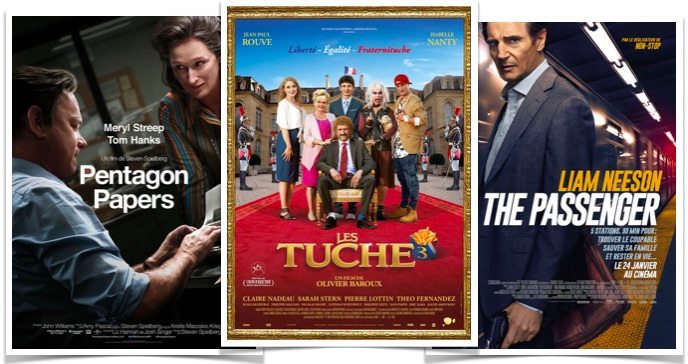 Box office Les Tuche 3 - Pentagon Papers - The Passenger