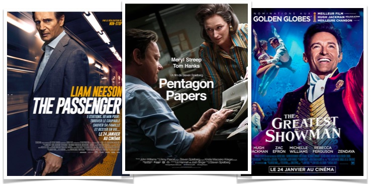 top box office Pentagon Papers The Passenger The Greatest Showman