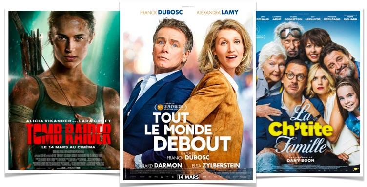 Box office Tout le monde debout La Chtite famille Tomb Raider