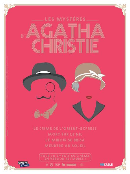 Le miroir se brisa - Agatha Christie - affiche