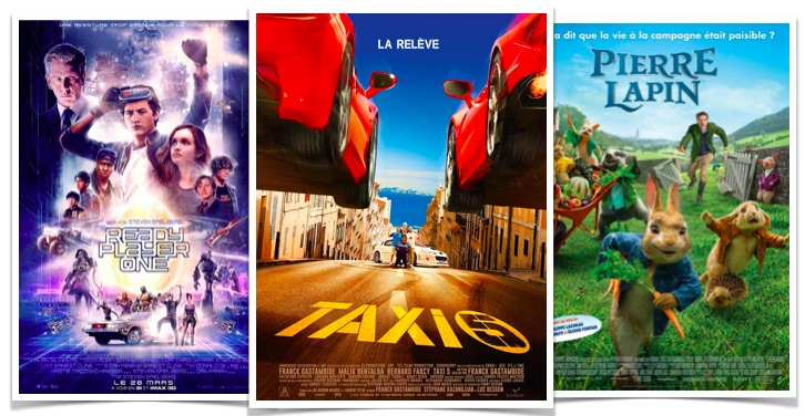 Box office Taxi 5 Pierre Lapin REady Player One