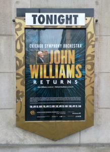 John Williams concdert CSO Chicago - affiche