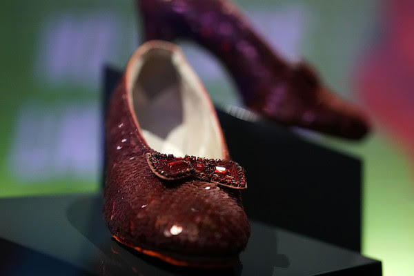 Les souliers de rubis de Judy Garland