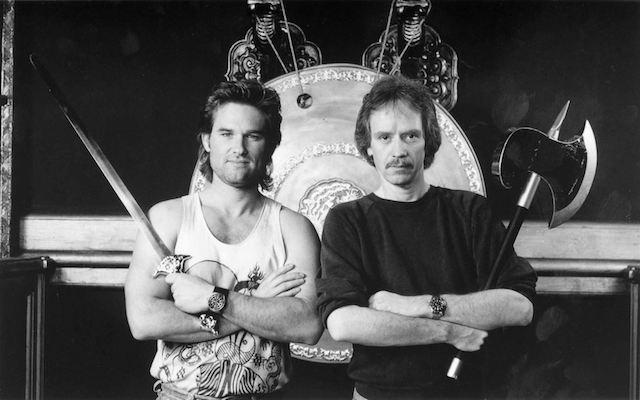 Kurt Russell et John Carpenter - tournage Jack Burton