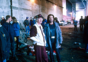 Kurt Russell et John Carpenter - tournage New York 1997