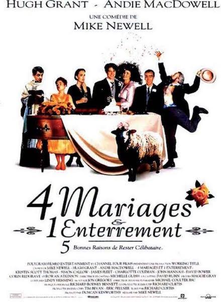 Quatre mariages et un enterrement - affiche