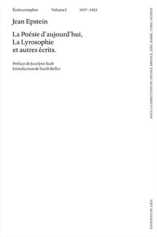Jean Epstein - livre