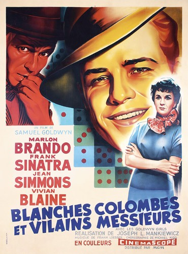 Blanches colombes et vilains messieurs Guys and Dolls - affiche