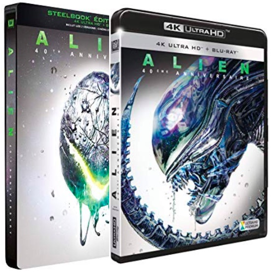 Alien - DVD Blu-ray 4K Ultra HD
