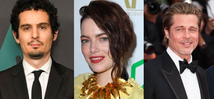Damien Chazelle Emma Stone Brad Pitt Babylon