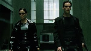 Keanu Reeves et Carrie-Anne Moss - Matrix