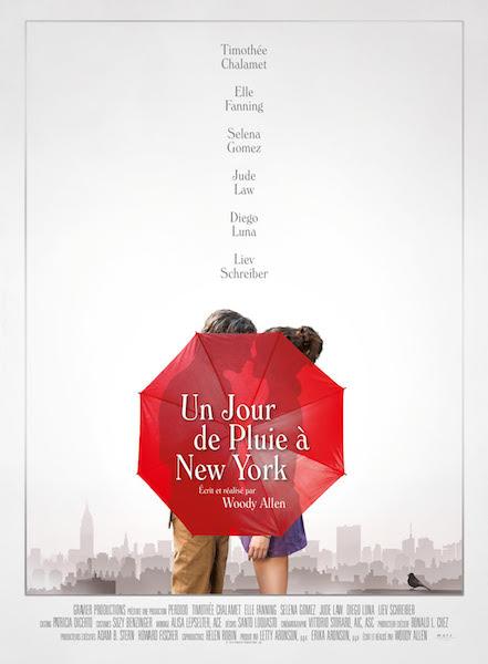 Un jour de pluie a New York - affiche