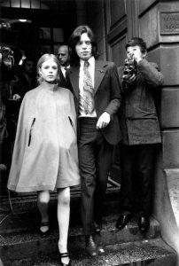 Marianne Faithfull et Mick Jagger