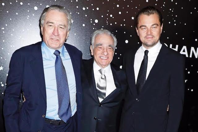 Martin Scorsese Leonardo DiCaprio et Robert de Niro