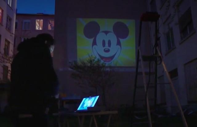 Projections en plein air a Lyon - confinement - Image France tv Info
