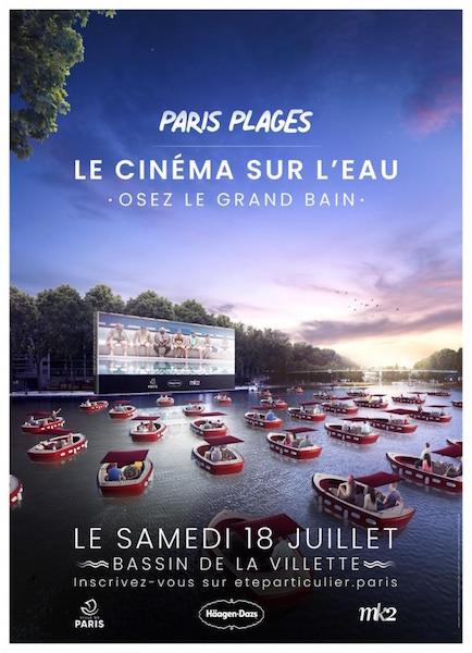 Cinema flottant- Bassin de la Villette - affiche