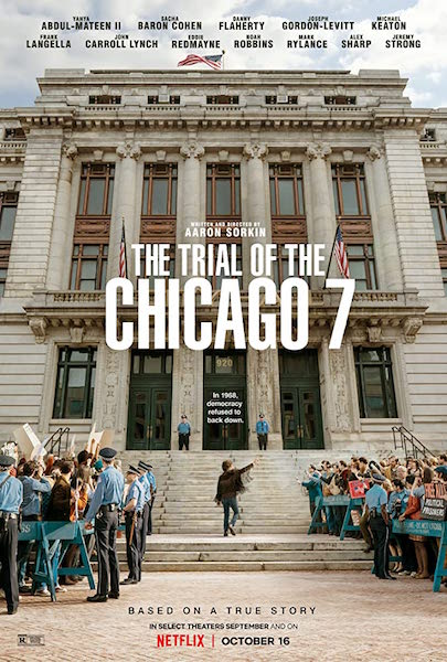 Sept de Chicago - The Trial of the Chicago 7 - affiche