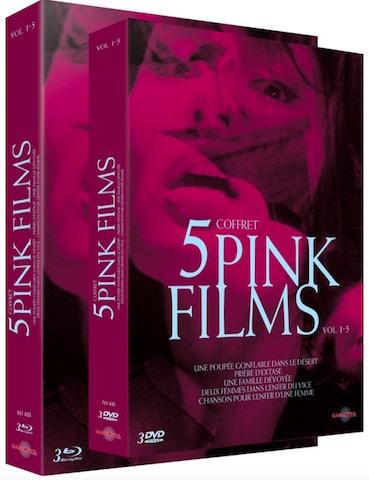 Coffret 5 Pink Films - jaquette