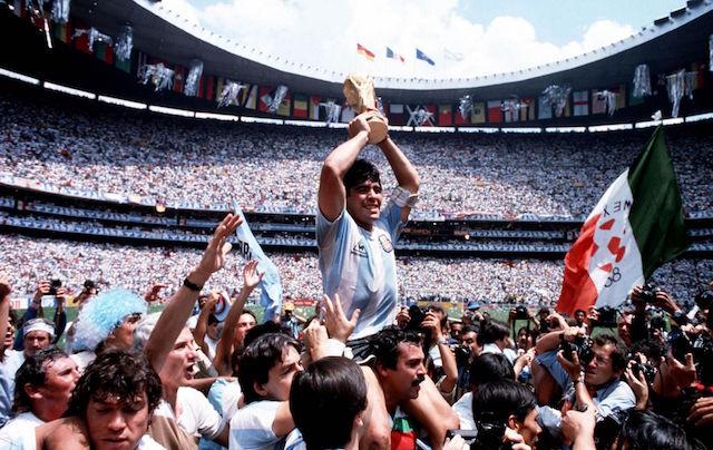 Diego Maradona, vainqueur de la Coupe du Monde 1986