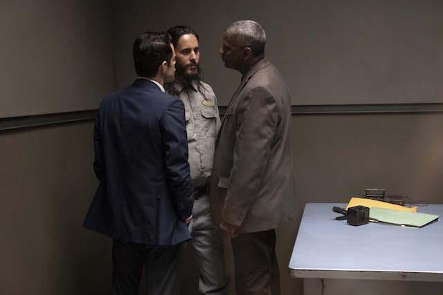 Denzel Washington, Rami Malek et Jared Leto dans Une affaires de details