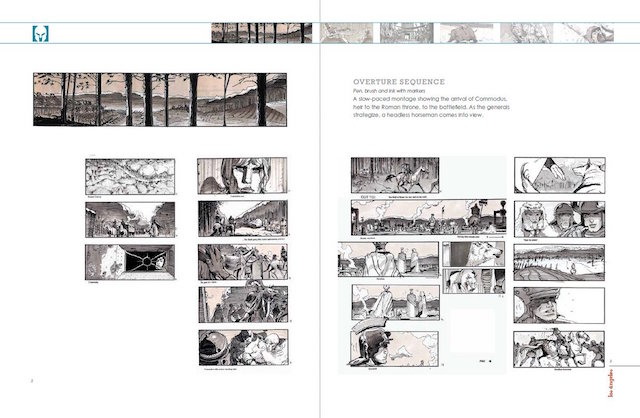 Extrait de Los angeles. Story-boards & chants de sirenes sur celluloid - Sylvain Despretz - Editions Caurette